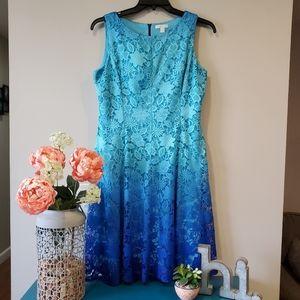 NY&C Sleeveless Ombre Lace Dress